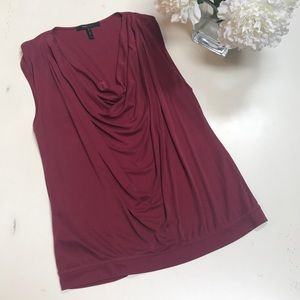 Sleeveless burgandy BCBGMAXAZRIA top